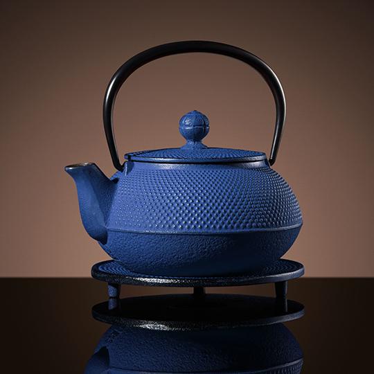 Mikado-Teapot-&-Trivet-in-Blue-(600ml)