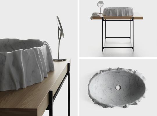 Kreoo_Nami-washbasin,-Hashi-Easel-and--Texo-texture